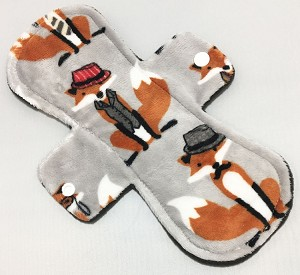 10 Inch Mr Fox Minky Heavy Pad with Fleece back