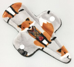 7.5 Inch Mr Fox Minky Thong Cloth Pantyliner