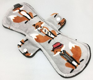 12 Inch Mr Fox Minky Ultimate Overnight Pad with Fleece back
