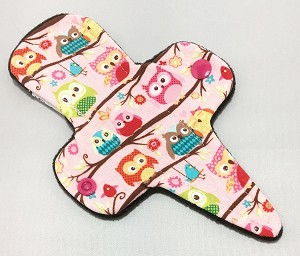7.5 Inch Owls Cotton Jersey Thong Liner