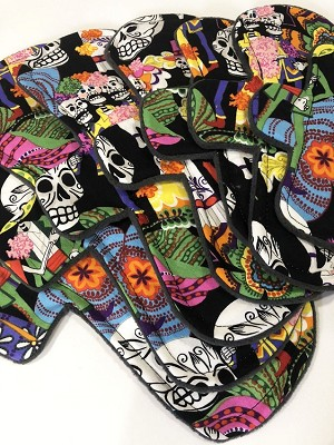 Day of the Dead Cotton Woven Pads with Fleece backs - Pick Your Size!
