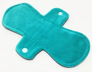 9 Inch Teal Cotton Velour Day Pad with Fleece back