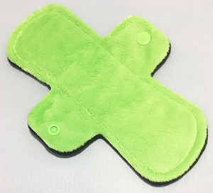 8 Inch Lime Green Minky Light Pad with Fleece back