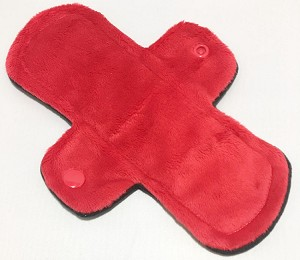 8 Inch Red Minky Light Pad with Fleece back