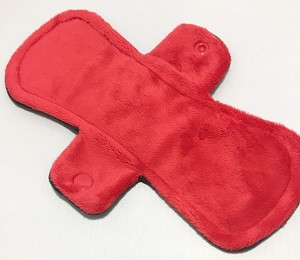 9 Inch Red Minky Day Pad with Fleece back