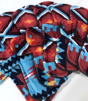 Aztec Minky Pads with Fleece backs - Pick Your Size!