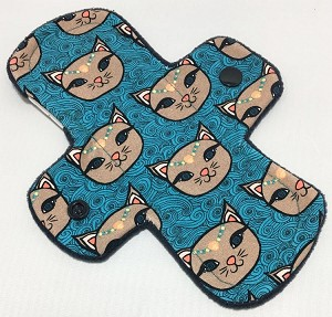 7.5 Inch Blue Kitty Cotton Jersey Regular Liner
