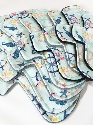 Seashore Cotton Jersey Pads with Fleece backs - Pick Your Size!