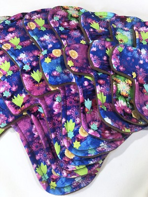 Neon Daydreams Cotton Jersey Pads with Fleece backs - Pick Your Size!
