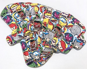 Kawaii Avengers Cotton Woven Pads with Fleece backs - Pick Your Size!