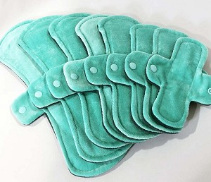 Mint Cotton Velour Pads with Fleece backs - Pick Your Size!