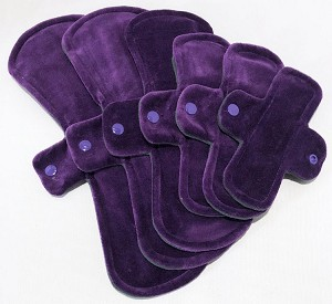 Purple Cotton Velour Pads with Fleece backs - Pick Your Size!