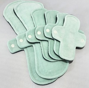 Seafoam Cotton Velour Pads with Fleece backs - Pick Your Size!