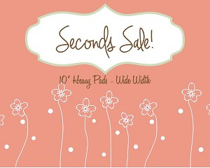 Seconds Sale! 10 Inch Surprise Cotton Jersey Heavy Pad with Fleece back