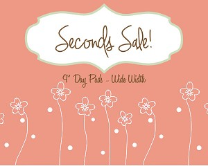 Seconds Sale! 9 Inch Surprise Minky Day Pad with Fleece back