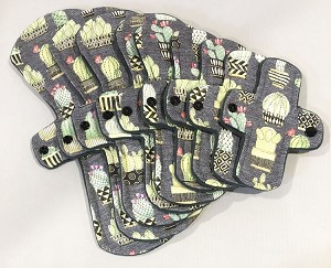 Succulents Cotton Woven Pads with Fleece backs - Pick Your Size!