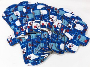 Whales Cotton Jersey Pads with Fleece backs - Pick Your Size!