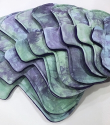 Naiad Hand Dyed Bamboo Jersey Pads with Fleece backs - Pick Your Size!