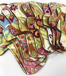 Jungle Blooms Cotton Woven Pads with Fleece backs - Pick Your Size!
