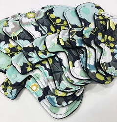 Midnight Garden Cotton Woven Pads with Fleece backs - Pick Your Size!