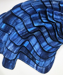 Dark Waters Batik Cotton Woven Pads with Fleece backs - Pick Your Size!