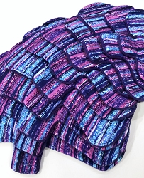 Purple Sparkle Stripe Cotton Jersey Pads with Fleece backs - Pick Your Size!