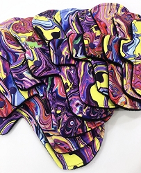 Trippy Hippy Cotton Jersey Pads with Fleece backs - Pick Your Size!