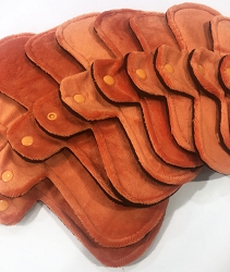 Orange Minky Pads with Fleece backs - Pick Your Size!
