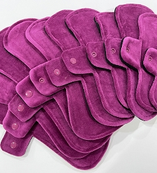 Cranberry Cotton Velour Pads with Fleece backs - Pick Your Size!