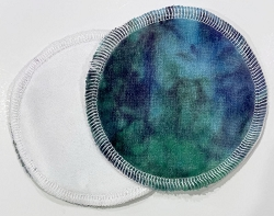 Hand Dyed Bamboo Velour Cloth Nursing Pads with PUL backs