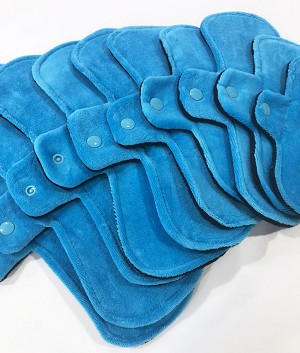 Turquoise Cotton Velour Pads with Fleece backs - Pick Your Size!