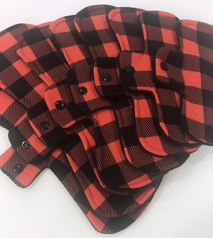 Buffalo Plaid Cotton Jersey Pads with Fleece backs - Pick Your Size!