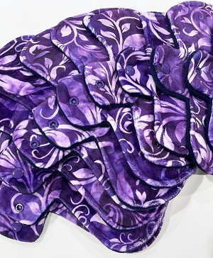 Violet Scrolls Minky Pads with Fleece backs - Pick Your Size!