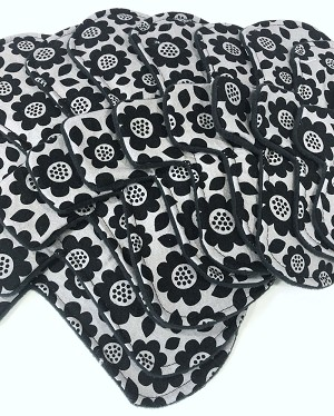 Monochromatic Floral Cotton Woven Pads with Fleece backs - Pick Your Size!